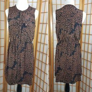 Broadway and Broome (Madewell) brown silk dress
